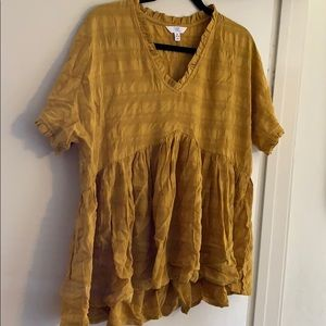 Cute Mustard Yellow Top